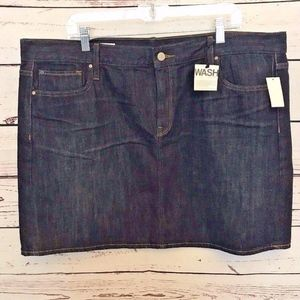 Gap Sz 35 jean denim mini skirt New
